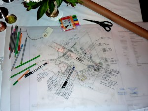 Trädgårdsritning